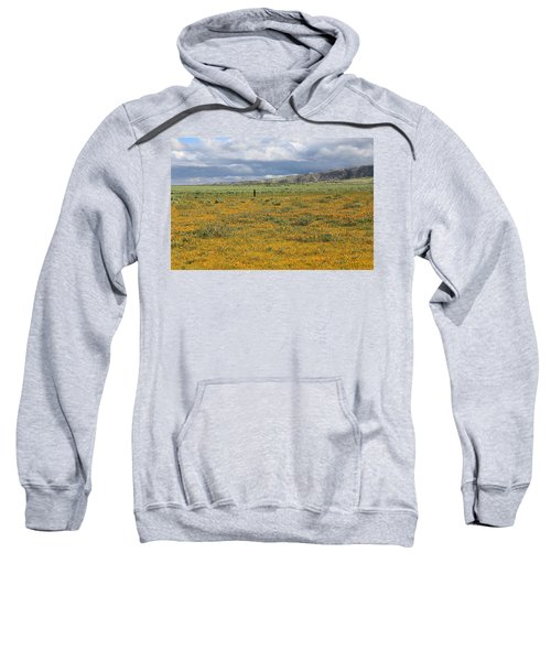 Poppies Field In Antelope Valley Sweatshirt