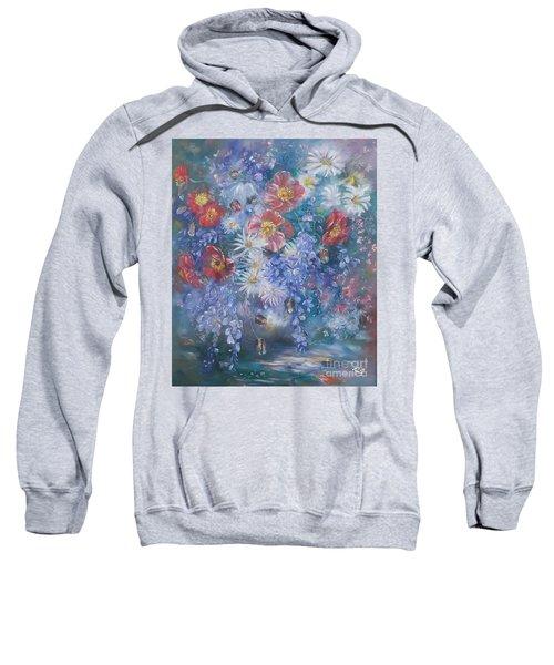 Poppies, Wisteria And Marguerites Sweatshirt