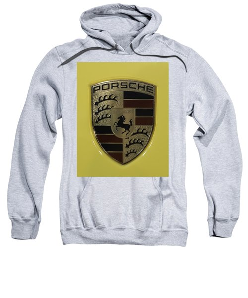 Porsche Emblem On Racing Yellow Sweatshirt