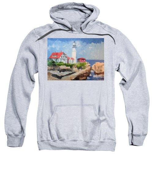 Portland Headlight By The Sea Sweatshirt