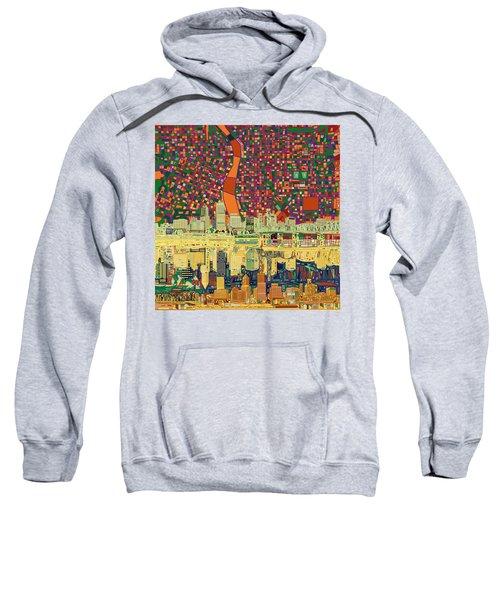 Portland Skyline Abstract 3 Sweatshirt