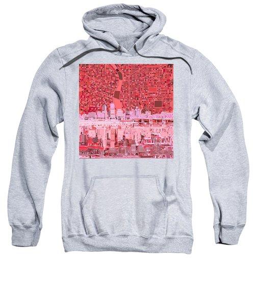 Portland Skyline Abstract 4 Sweatshirt