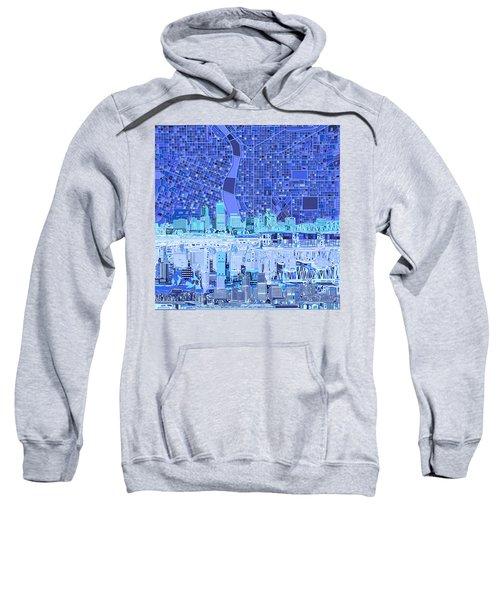 Portland Skyline Abstract 5 Sweatshirt