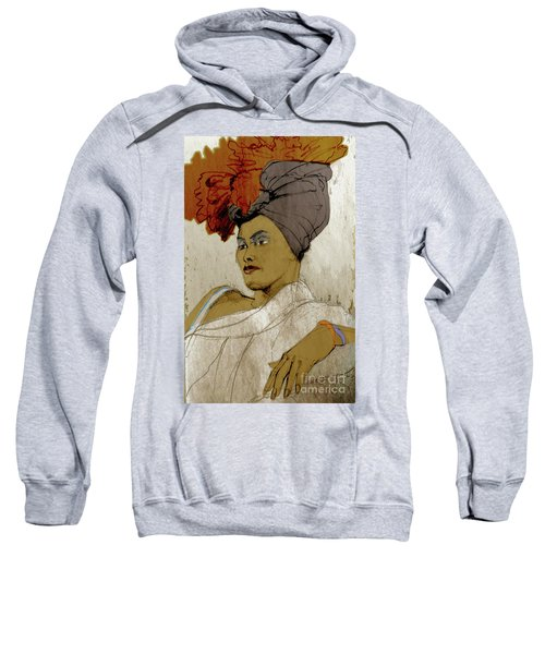 Portrait Of A Caribbean Beauty Sweatshirt