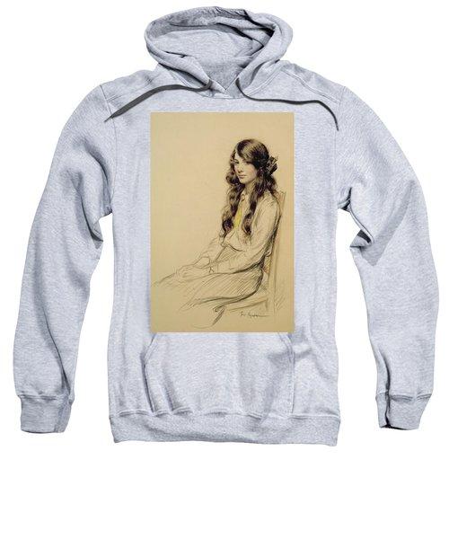 Portrait Of A Young Girl Sweatshirt