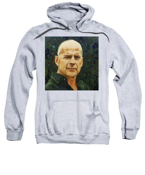 Portrait Of Bruce Willis Sweatshirt