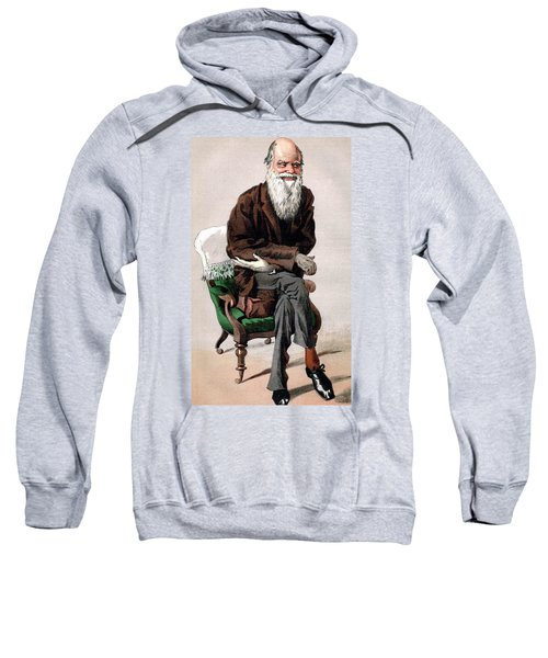 Portrait Of Charles Darwin Sweatshirt