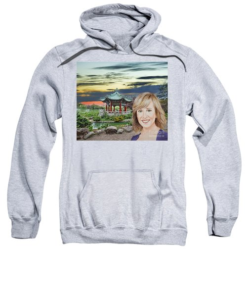 Portrait Of Jamie Colby By The Pagoda In Golden Gate Park Sweatshirt by Jim Fitzpatrick