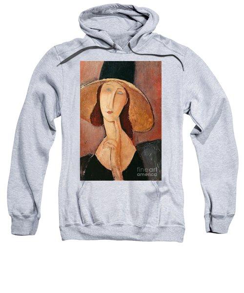 Portrait Of Jeanne Hebuterne In A Large Hat Sweatshirt
