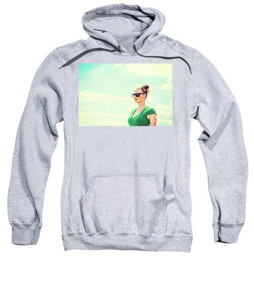 Portrait Of Young Woman Sweatshirt