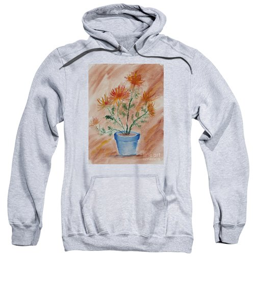 Potted Plant - A Watercolor Sweatshirt