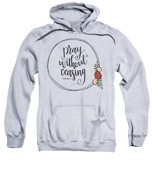 Pray Without Ceasing Wreath Sweatshirt