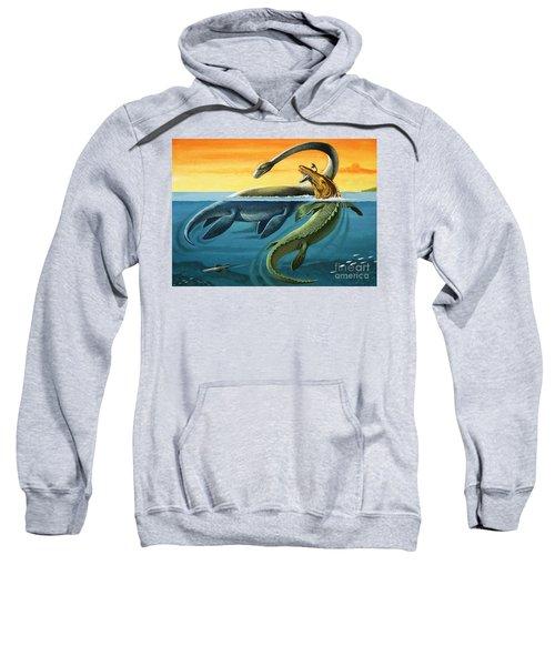 Prehistoric Creatures In The Ocean Sweatshirt