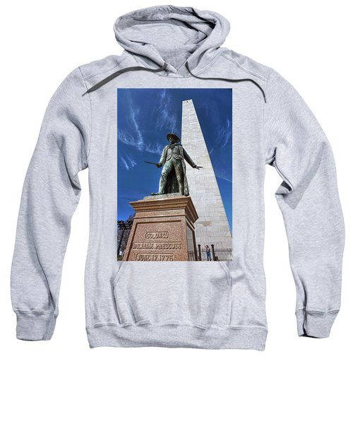 Prescott Statue On Bunker Hill Sweatshirt