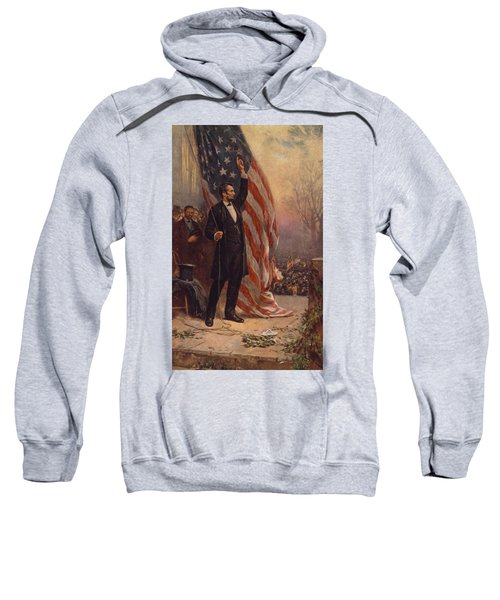 President Abraham Lincoln Giving A Speech Sweatshirt
