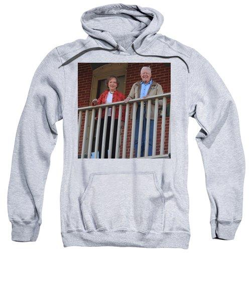 President And Mrs Carter On Plains Inn Balcony Sweatshirt