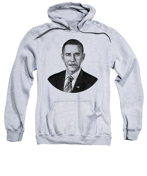 President Barack Obama Graphic Black And White Sweatshirt