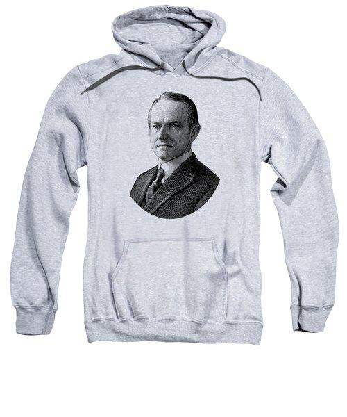 President Calvin Coolidge Graphic - Black And White Sweatshirt