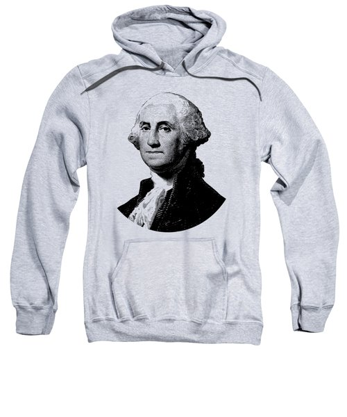 President George Washington Graphic - Black And White Sweatshirt by War Is Hell Store