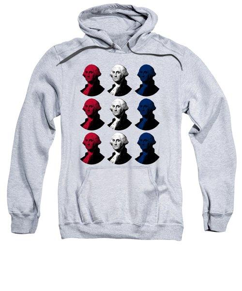 President George Washington - Red, White, And Blue  Sweatshirt