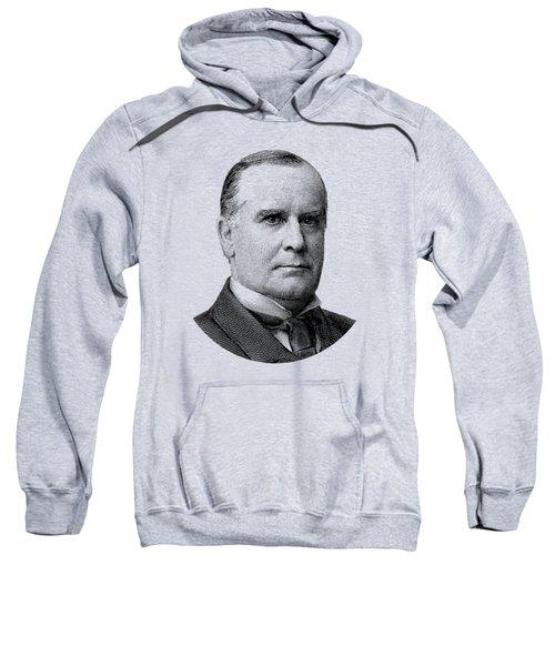 President Mckinley Graphic - Black And White Sweatshirt