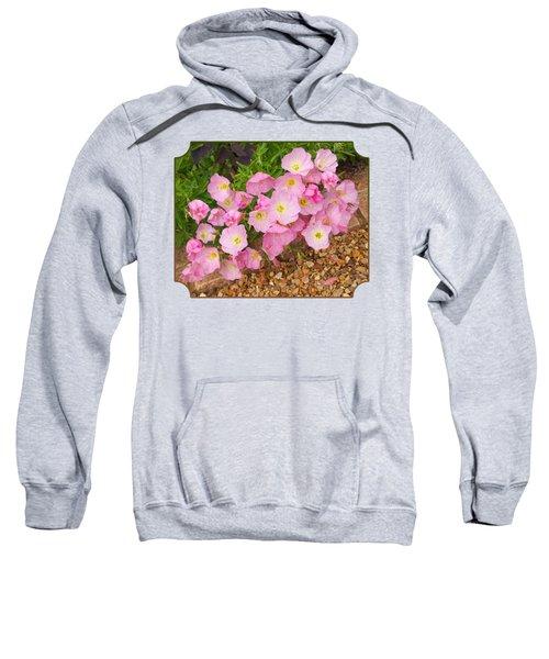 Pretty Pink Rock Roses In The Rain Sweatshirt