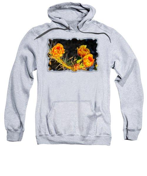 Prickly Pear Flowers Op49 Sweatshirt by Mark Myhaver