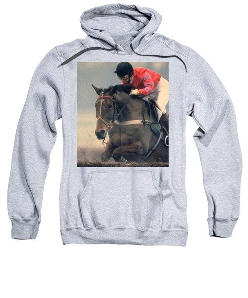 Princess Anne Riding Cnoc Na Cuille At Kempten Park Sweatshirt