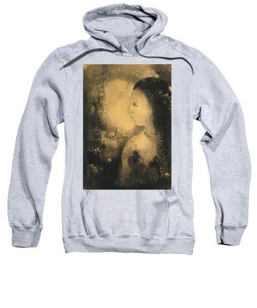 Profile Of A Woman With Flowers Sweatshirt