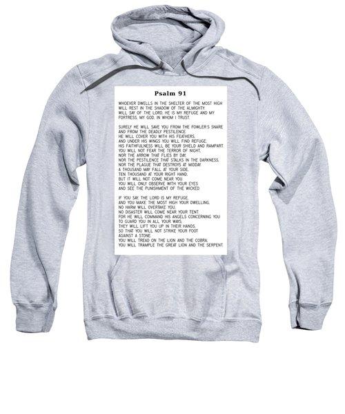 Psalm 91 #minimalism Sweatshirt