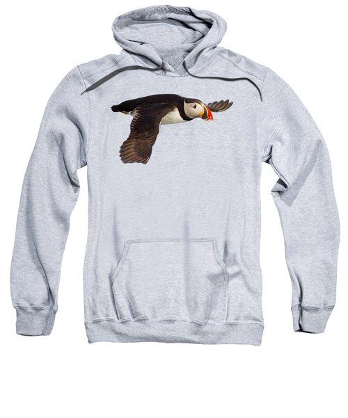 Puffin In Flight T-shirt Sweatshirt