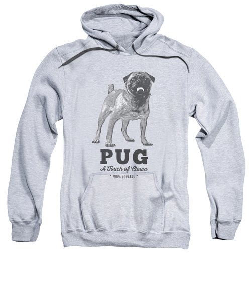 Pug Dog Touch Of Clown T-shirt Sweatshirt