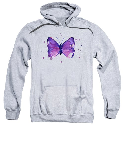 Purple Abstract Butterfly Sweatshirt
