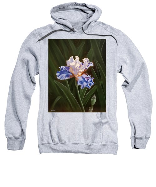 Purple And White Iris Sweatshirt