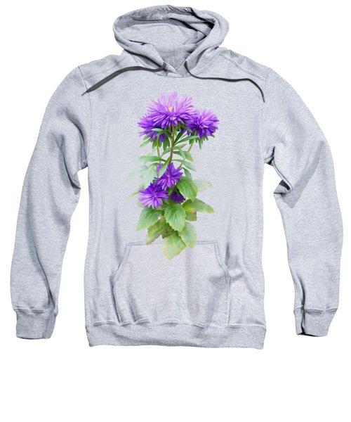 Purple Aster Sweatshirt