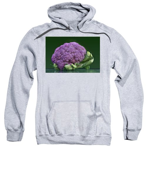 Purple Cauliflower Sweatshirt by Nikolyn McDonald