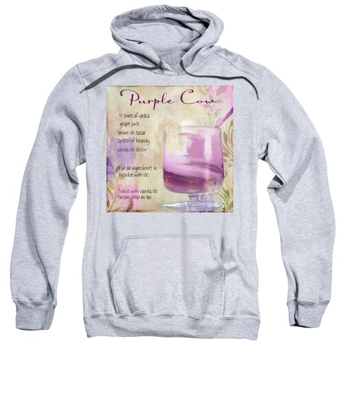 Purple Cow Mixed Cocktail Recipe Sign Sweatshirt
