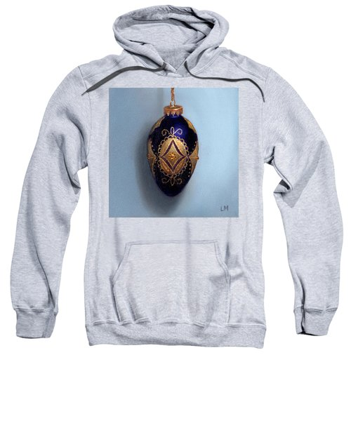 Purple Filigree Egg Ornament Sweatshirt