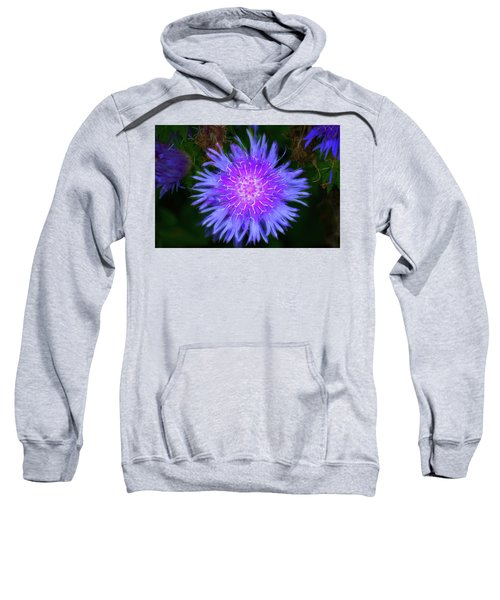 Purple Flower From Mars Sweatshirt