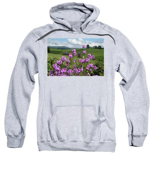 Purple Flower In Landscape Sweatshirt