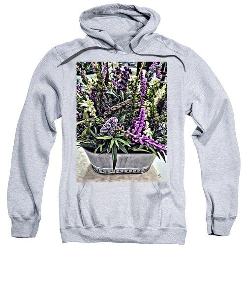 Purple Flowers In Bloom Sweatshirt
