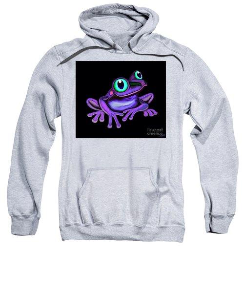Purple Frog  Sweatshirt