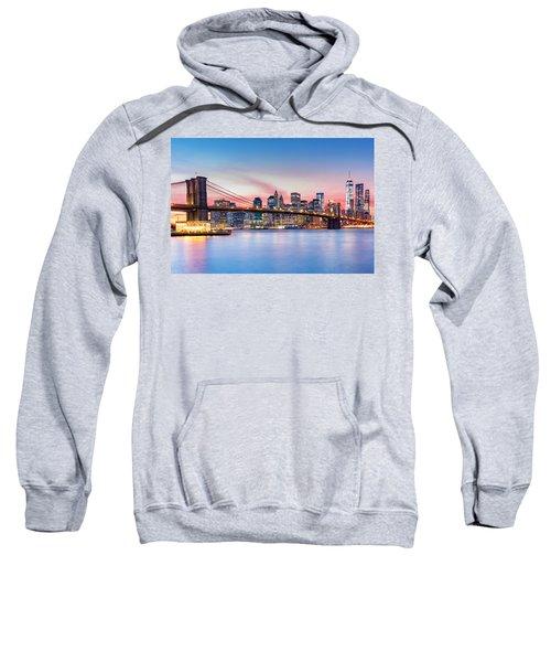 Purple Nyc Sunset Sweatshirt