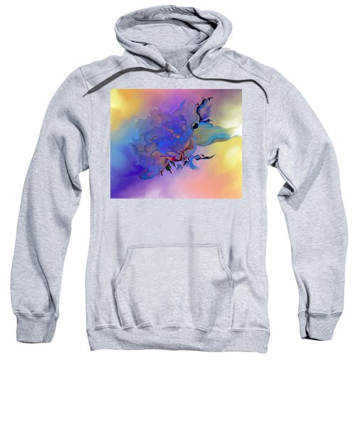Sweatshirt featuring the painting Purple Passion Peony by Hanne Lore Koehler