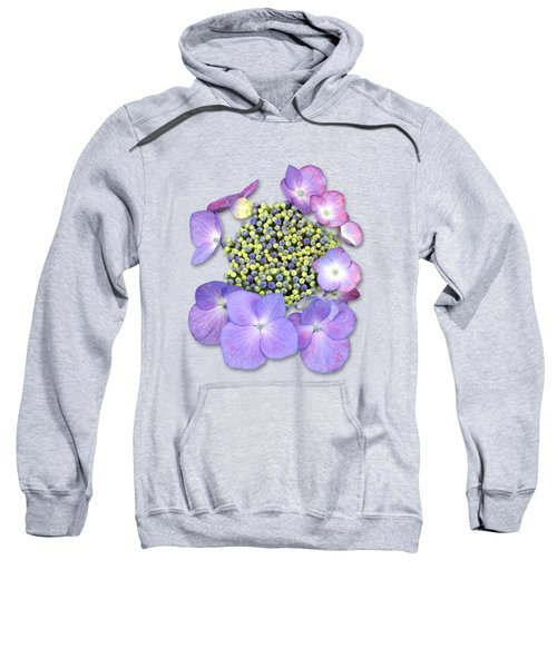 Purple Pods Sehemu Mbili Unyenyekevu Sweatshirt