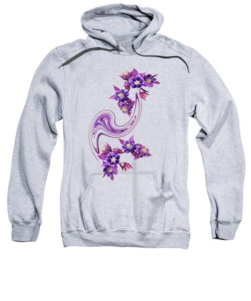 Purple Velvet Sweatshirt
