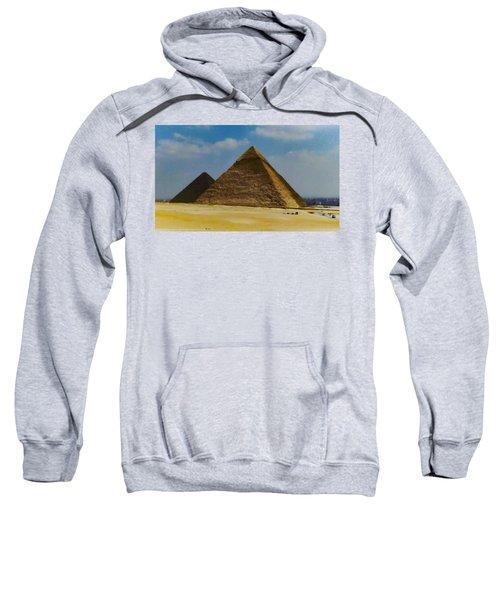 Pyramids, Cairo, Egypt Sweatshirt