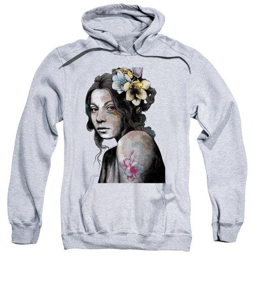 Qohelet - Young Lady With Freesias Tattoos Sweatshirt