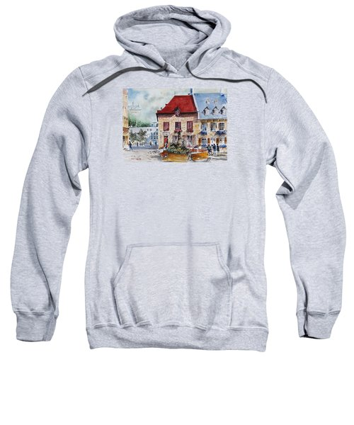 Quebec City Flower Boxes Sweatshirt