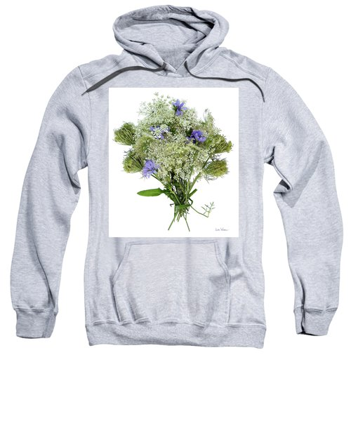 Queen Anne's Lace With Purple Flowers Sweatshirt